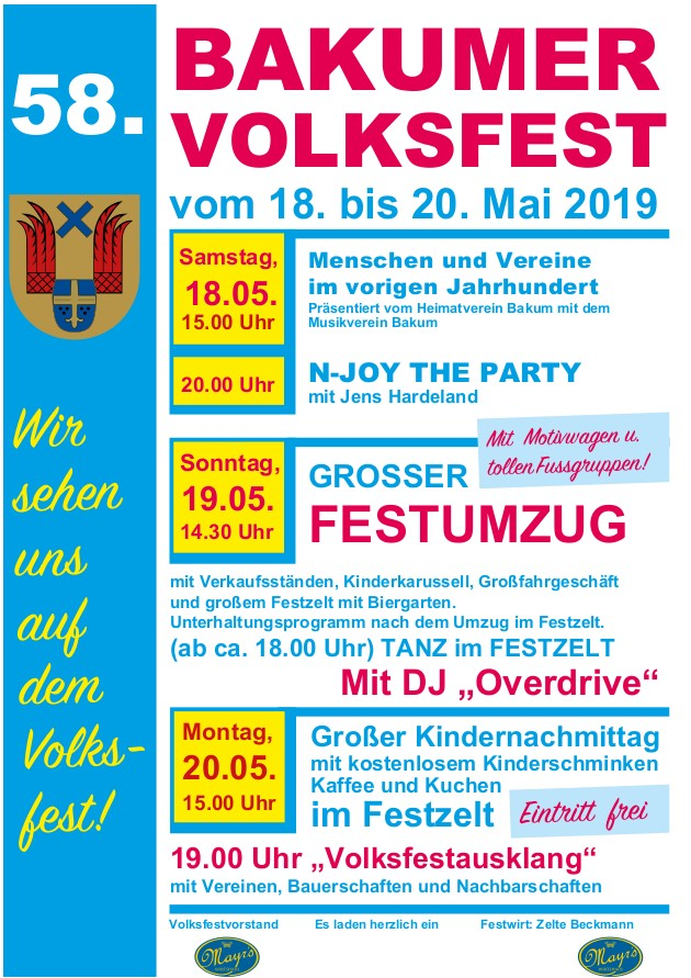 58. Volksfest Bakum